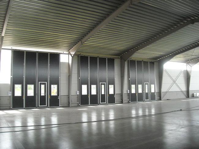 Ecolid 4-delad indusitrportar med glas och gangdorr